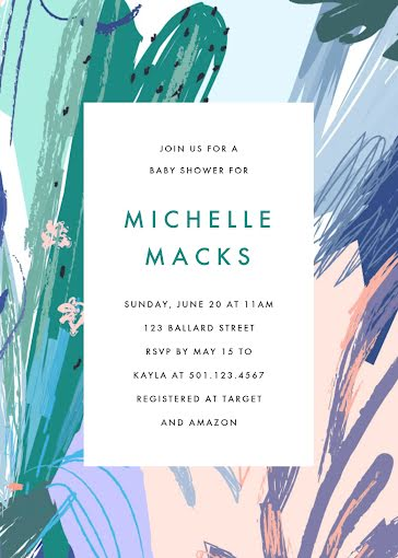 Michelle's Baby Shower - Baby Shower Invitation Template