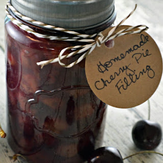 Simple Homemade Cherry Pie Filling