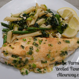 Parmesan Topped Broiled Flounder.