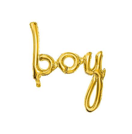 Folieballong - boy guld