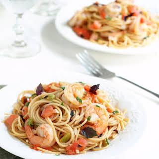 Pasta with Shrimp Fra Diavolo.