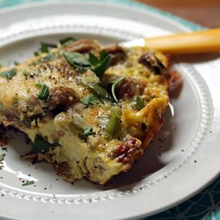 Italian Sausage, Pepper And Mushroom Frittata {gluten-free}