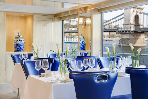 Enjoy fresh fare in a sophisticated atmosphere when you dine on Uniworld's S.S. Beatrice.