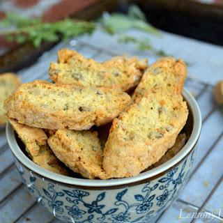 Savory Parmesan & Herb Walnut Biscotti Recipe
