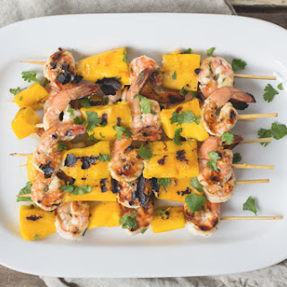 Mango + Shrimp Skewers