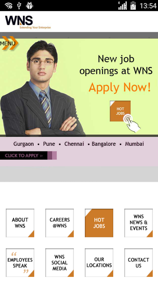 WNS Careers on Mobile- screenshot