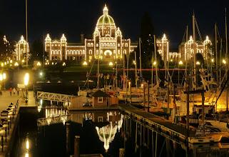 Photo: BC Parliament Buildings, Victoria Harbor