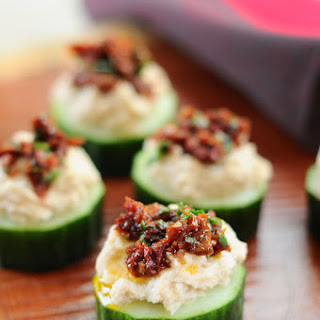 White Bean and Sun Dried Tomato Cuke Cuties {Vegan, Gluten-Free}