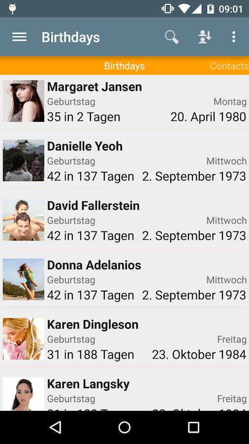 Дни рождения - бесплатно - screenshot