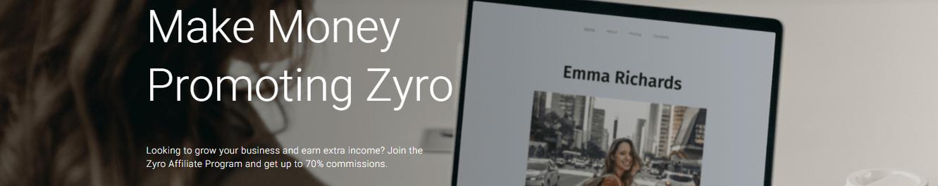 Zyro affiliate program