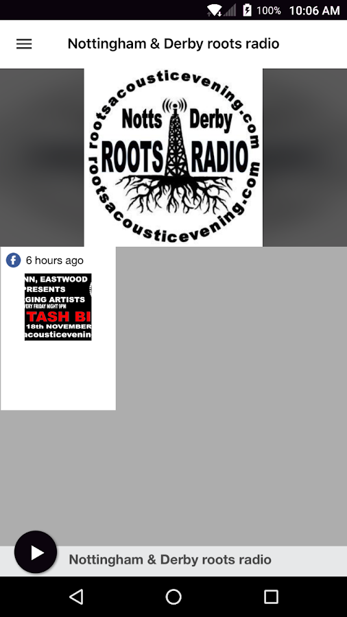 Nottingham & Derby roots radio- screenshot