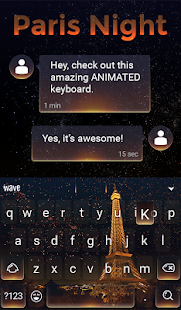 Paris Night Animated Keyboard + Live Wallpaper for PC-Windows 7,8,10 and Mac apk screenshot 3