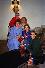 Photo: Christmas 1997. Carolyn (McGill) Hoelscher, Michele (Baldree) Bibb, Suzy (Wright) Thomas, Nancy (Seiler) McCarthy, Linda (Wilson) Mitchell