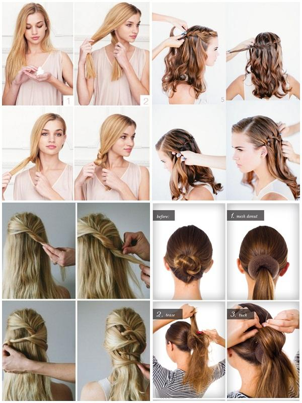 Hairstyles Step By Step braided rose bow hairstyle step by step method Easy Hairstyle Step By Step Screenshot