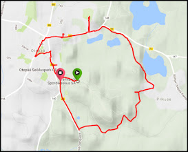 Photo: Here's my route - 8.5 km, a circuit around the outside of the artificially created ski circuit of 6 km