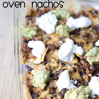 Beef & Bean Oven Nachos.