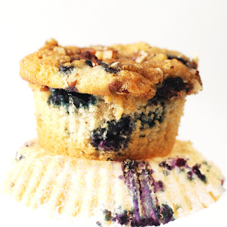Lo's Award-Winning Blueberry Pecan Muffins with Brown Sugar Topping
