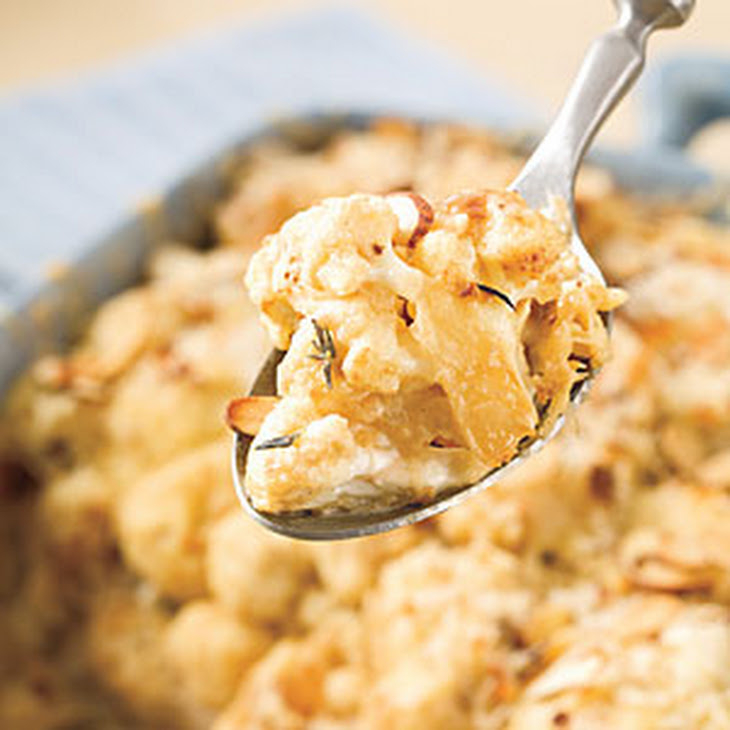 Three-Cheese Pasta Gratin With Almond Crust Recipes — Dishmaps