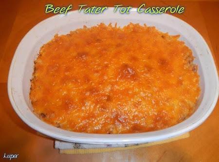 BEEF TATER TOT CASSEROLE Recipe
