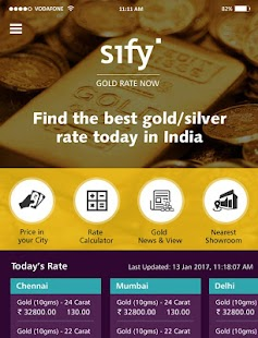 Sify Live Gold Rate India- screenshot thumbnail