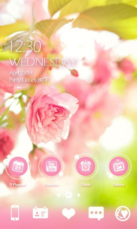 Miss Flower GO Launcher Theme Screenshot