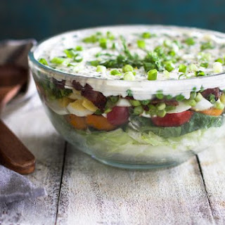 Seven Layer Salad Lettuce Peas Bacon Recipes