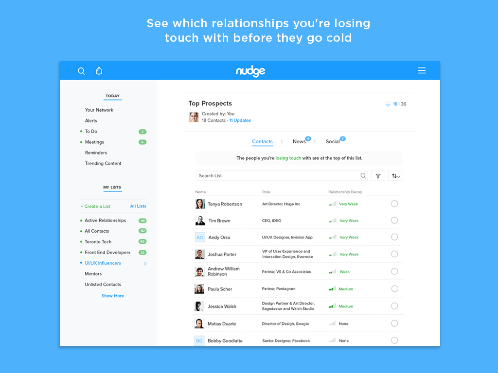 Nudge- screenshot