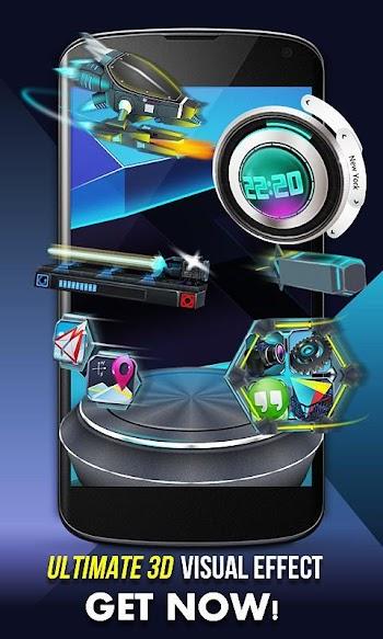 Próximo Lançador 3D shell- tela capturada