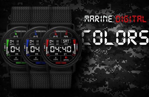 Marine Digital 2 Watch Face & Clock Live Wallpaper 1.07 screenshots 10