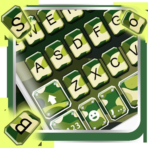 Green Camo Keyboard Theme Icon