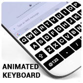 New Black Keyboard - Live Emoji, GIF, Sticker