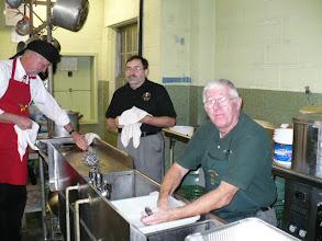 Photo: Left to right:  Earl Creutzburg 32 KSA; Keith Morgan 32 KSA and Glen Todd 32 KSA