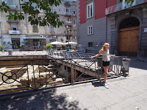 Photo: Old roman street in the piazza right near our hotel