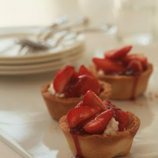 Strawberry Ricotta Tarts.