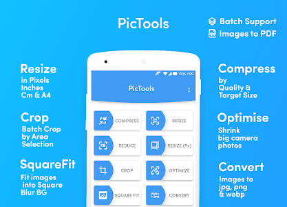Multi photo resize compress crop in batch PicTools 1.3.2 (Pro)