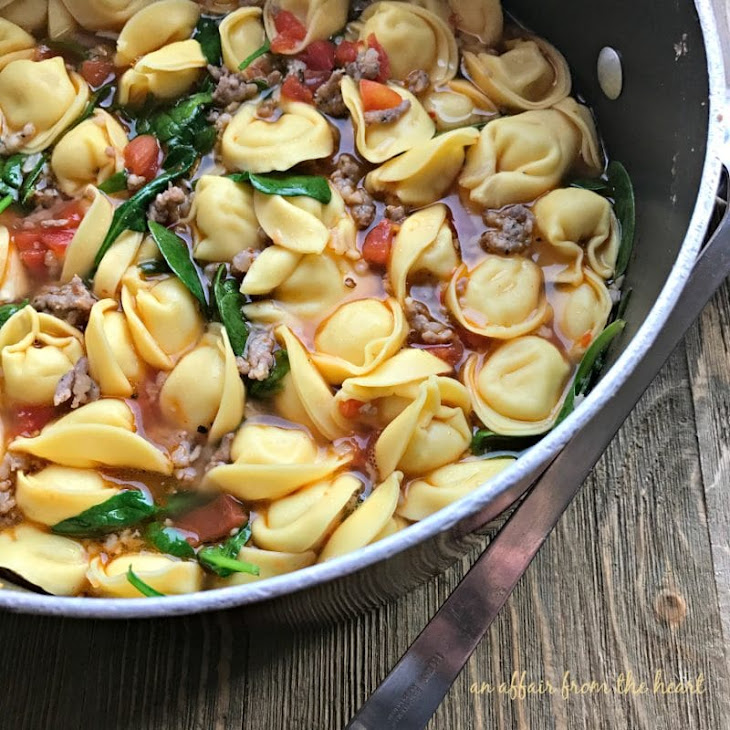 Tortellini Soup with Spinach and Sausage Recipe