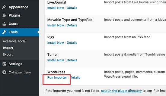 Chạy trình nhập WordPress