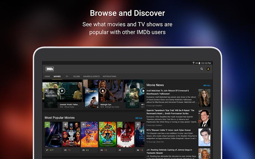 Screenshot 6 for IMDb's Android app'