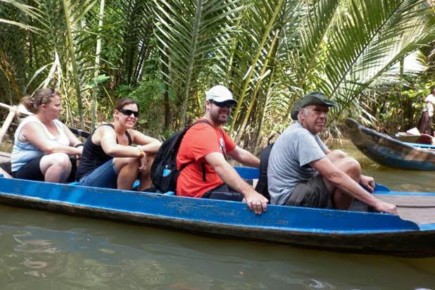 Balade en bateau sur le Delta du Mékong