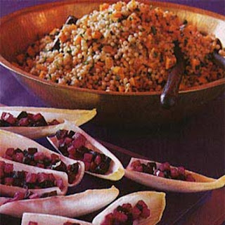 Israeli Couscous with Roasted Butternut Squash and Preserved Lemon.