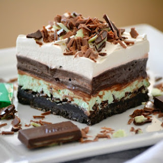 Chocolate Mint Dream Bars.