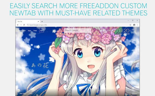 Anohana Wallpaper HD Anohana Anime New Tab