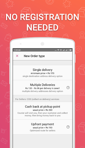 Wefast u2014 Courier Delivery Service 1.24.3 screenshots 1