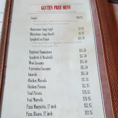 GF menu -- the owner said many specials are GF too