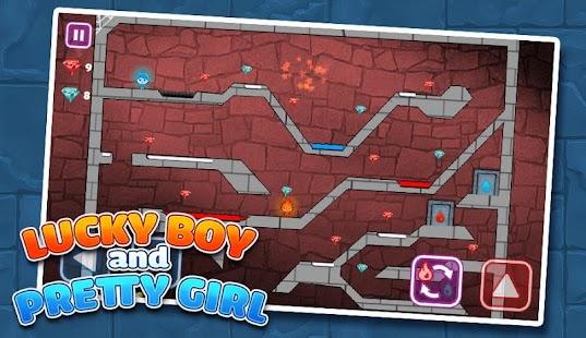 LuckyBoy and PrettyGirl - Crystal Temple Maze - náhled