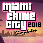 Miami Crime Games - Gangster City Simulator Icon