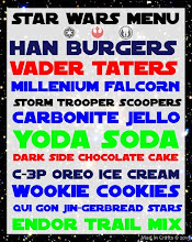 Photo: Star Wars Party Menu:  http://www.madincrafts.com/2013/01/homemade-star-wars-party-menu.html  #starwarstuesday
