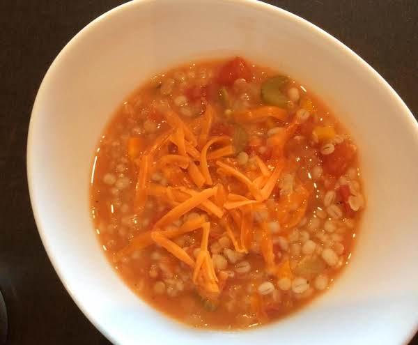 Elaine's Creamy Barley And Lentil Stew