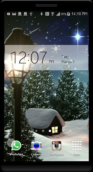 Snowy Village HD LWP- screenshot thumbnail