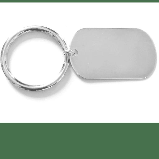 porte clé plaque en argent